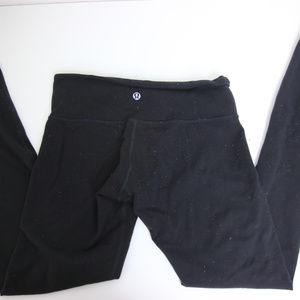 lululemon full length leggings black size 6